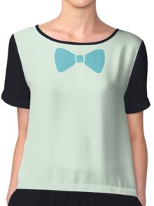 Turquoise Pastel Bow Chiffon Top