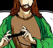 Jesus saves after he passes each level Sticker