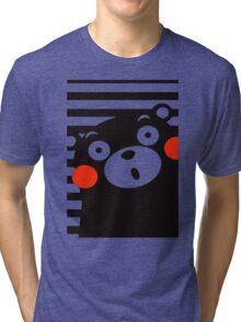 Japan Anime Kumamon Bear Animal Tri-blend T-Shirt
