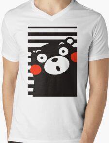 Japan Anime Kumamon Bear Animal Mens V-Neck T-Shirt