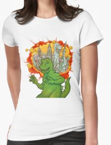 T Rex dreams Womens Fitted T-Shirt