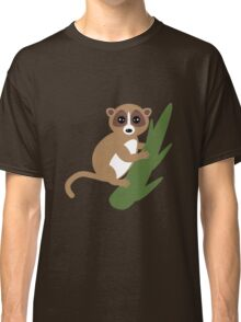 Lemur on blue background.  Classic T-Shirt