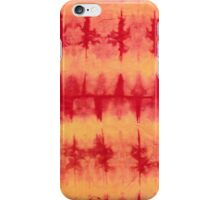 tye n dye vertical n horizontal lines by fan folding  print iPhone Case/Skin