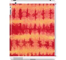 tye n dye vertical n horizontal lines by fan folding  print iPad Case/Skin