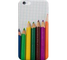 colored pencils closeup  iPhone Case/Skin