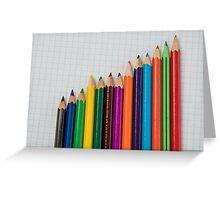 colored pencils closeup  Greeting Card