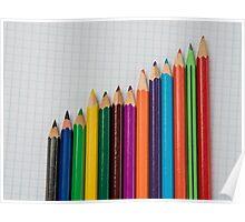 colored pencils closeup  Poster