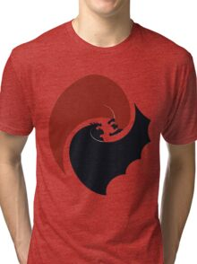batman vs superman yin yang logo Tri-blend T-Shirt