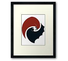 batman vs superman yin yang logo Framed Print
