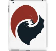 batman vs superman yin yang logo iPad Case/Skin
