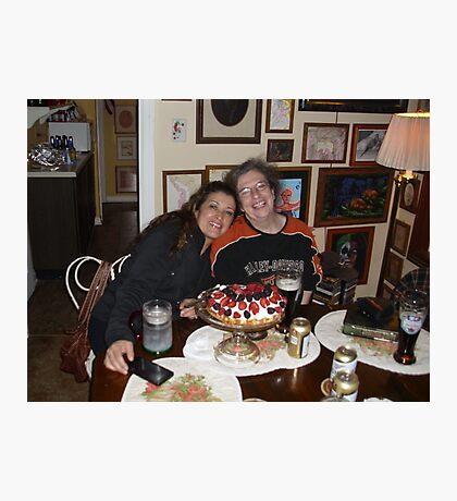 birthday cheesecake  Photographic Print