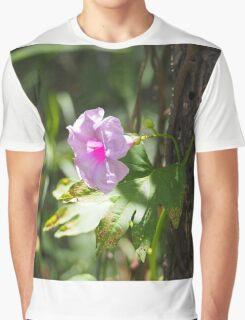 Pink Flower Graphic T-Shirt