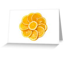 sliced oranges on a plate  Greeting Card