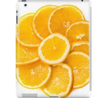 sliced oranges on a plate  iPad Case/Skin