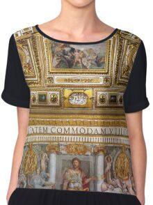 Sala della Biblioteca at Castel Sant'Angelo, Rome Italy Women's Chiffon Top