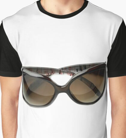 female brown sunglasses isolated  Graphic T-Shirt