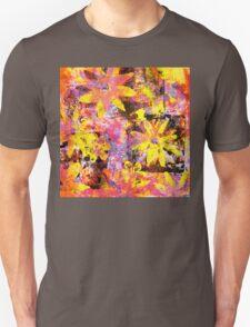 Flower in Black Square 13- Digitally Altered Print  Unisex T-Shirt
