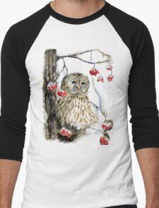 Barred owl Men's Baseball ¾ T-Shirt