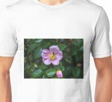 Pink Camellia with a little insect Unisex T-Shirt