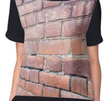 Selective focus on the red brick wall  Chiffon Top
