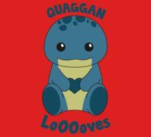 Guild Wars 2 - Quaggan LoOOoves you! Kids Tee