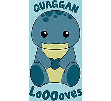 Guild Wars 2 - Quaggan LoOOoves you! Photographic Print