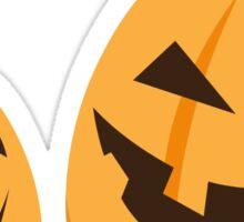Happy Jack o lantern Halloween sticker Sticker
