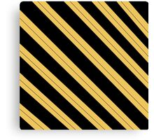 Simple hufflepuff design - Stripes Canvas Print