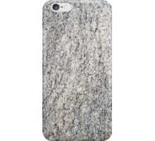 The flat surface of a gray granite stone iPhone Case/Skin