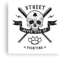 Street fighting emblem Canvas Print