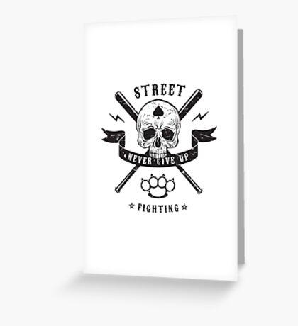 Street fighting emblem Greeting Card