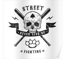 Street fighting emblem Poster