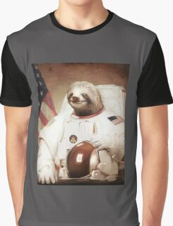 Spaceman Sloth Astronaut Graphic T-Shirt