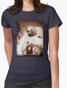 Spaceman Sloth Astronaut Womens Fitted T-Shirt
