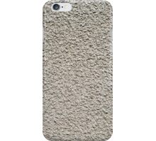 Detail of gray wall closeup uneven granular iPhone Case/Skin