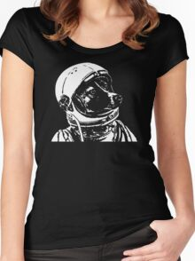 Space Dog Laika Women's Fitted Scoop T-Shirt