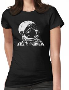 Space Dog Laika Womens Fitted T-Shirt