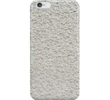 Gray wall closeup uneven granular cement coating iPhone Case/Skin