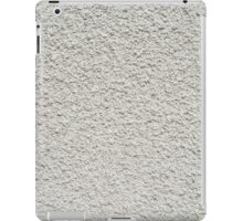 Gray wall closeup uneven granular cement coating iPad Case/Skin