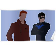 Wally West and Dick Grayson Minimalism Poster