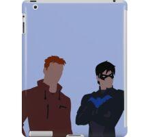 Wally West and Dick Grayson Minimalism iPad Case/Skin
