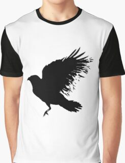 Crow - flying crow Graphic T-Shirt