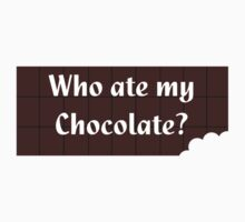 Who Ate My Chocolate iPhone Case - Galaxy Phone Cover One Piece - Short Sleeve