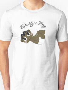 Daddy's Boy Black Hair and Brown Eyes Unisex T-Shirt