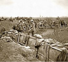 Preparing for Hell, Ypres Salient, World War 1 by Dennis Melling