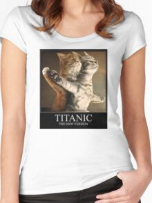 Titanic Cats Women's Fitted Scoop T-Shirt