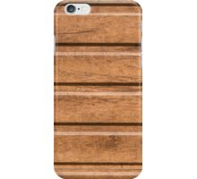 Brown siding that mimics the natural wood iPhone Case/Skin