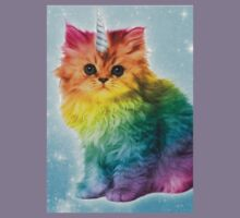 Unicorn Rainbow Cat Kitten Kids Tee