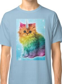 Unicorn Rainbow Cat Kitten Classic T-Shirt