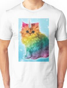 Unicorn Rainbow Cat Kitten Unisex T-Shirt